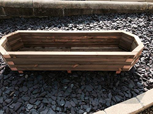 Garden Larch Pot en bois octogonal étendu 1400 x 420 x 300 XL