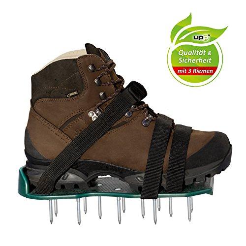 UPP Rasen-Lüfter-Schuhe 1 Paar inkl. 3 Riemen/Rasenbelüfter/Rasenlüfter/Vertikutierer/Nagelschuhe