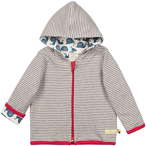 Shirt-jacke (loud + proud Unisex Baby Wendejacke aus Bio Baumwolle, GOTS Zertifiziert Jacke, Grau (Grey Gr), (Herstellergröße: 98/104))