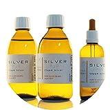 PureSilverH2O 600ml Kolloidales Silber (2x 250ml/25ppm) + Pipettenflasche (100ml/50ppm) Reinheit & Qualität seit 2012