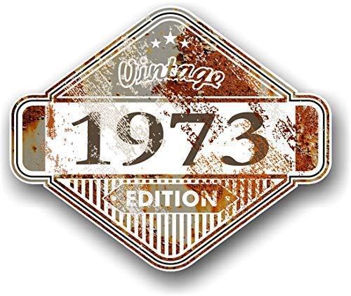 Retro Vintage Edition Jahr Vom 1973 Motiv mit Rostig Alte Rost Effect Vinyl Auto Motorrad Aufkleber 85x70mm (Rostige Autos)