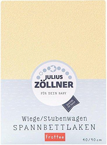 Julius Zöllner 8310049740 - Spannbetttuch Frottee für die Wiege, Größe: 90 x 40 cm, Farbe: banana