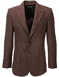 Amazon.it  Giacche Di Lana Uomo - Marrone   Giacche e cappotti ... eec3524d36a