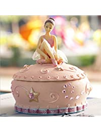 MADICN Joyero Musical para niña con Bailarina giratoria, diseño Rosa, el Mejor Regalo para
