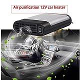 WANYIG Stufetta portatile per auto, Riscaldamento Auto 12v 150W Auto Termoventilatore Con purificazione dell'aria riscaldamento 12v per auto (Grigio)