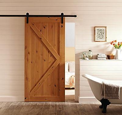 ccjh Simple con forma de retro estilo deslizante granero puertas Hardware armario Set para puerta de madera.