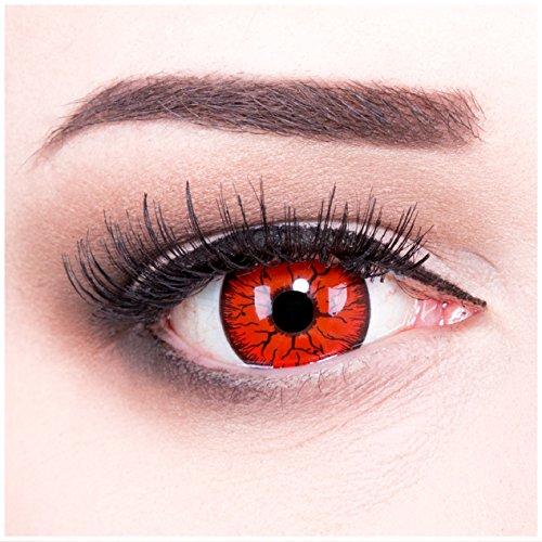 Funnylens 1 Paar 17mm farbige rote schwarze Crazy Fun Jahres Kontaktlinsen Metatron mit gratis Linsenbehälter. Perfekt zu Halloween, Karneval und - Paar Tolles Halloween-kostüme