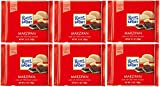 Ritter Sport Chocolate With Marzipan 100g - Pack of 6