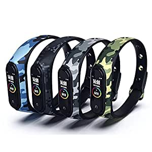 iloft Silicone Camouflage Army Style Band Strap for Xiaomi Mi Band 4 and Mi Band 3(Device Not Included) (Pack of 4)