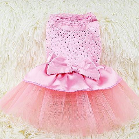 skyoo Cute Pet Puppy Hund Katze Spitze Rock Prinzessin Tutu Kleid Set Sommer Kleidung