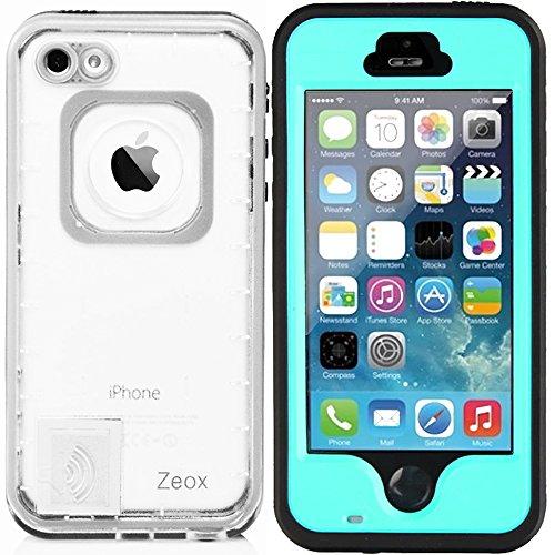 iPhone SE Fall, iPhone 5S Fall, zeox iPhone SE Wasserdicht Stoßfest schmutzfest Schneedicht Schutz Schutzhülle für Apple iPhone SE/iPhone 5S/iPhone 5-, Blaugrün - 5s Für Otterbox-handy-fall