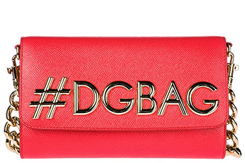 Dolce & Gabbana Schultertasche Leder Damen Tasche Umhängetasche Bag dg girls dauph