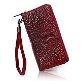 APHISONUK Krokodilleder Damen Geldbörse Mode Portemonnaie Geldbörse der Frauen-Organizer Wallet/Clutch - Geschenk für Frauen