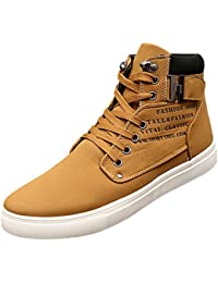 7dc801f29885 wealsex Basket Montant Daim Boucle Scratch Homme Sneakers Haute Casual  Confort Taille 38-47