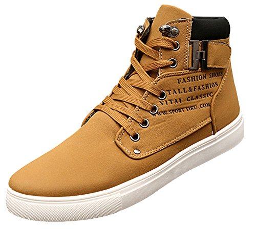 wealsex Basket Montant Daim Boucle Scratch Homme Sneakers Haute Casual Confort Taille 38-47