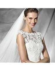 &huahua Hombro de mantón de novia cadena/collar/la joyería/de la boda accesorios/cordón/moda/capa/fina/capa/ancho: 88cm largo: 35cm , net bust 82-86