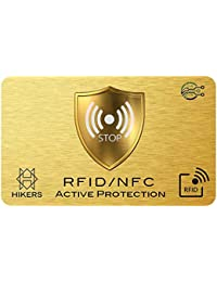 Tarjeta Anti RFID/NFC protección Tarjeta de Crédito sin Contacto, Finito los Carcasas y Fundas, el Billetera EST Totalmente Protegido, Pasaporte, Proteccion RFID Bloqueo