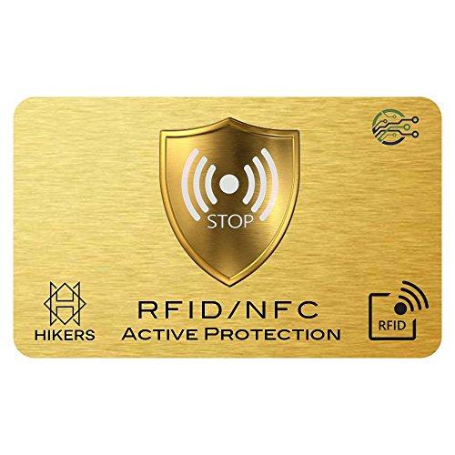 Carta di blocco RFID/NFC Protezione per carta di credito contactless, carte bancaria, pasaporto, carta bancomat (1 carte)