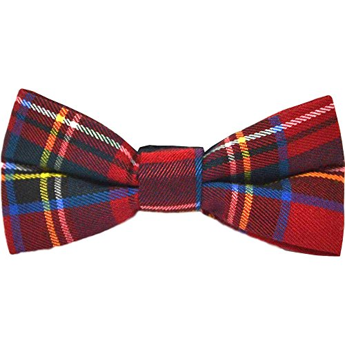 King & Priory Tartan Rouge Traditionnelle Cocher Noeud Papillon