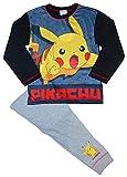 Pokemon Pikachu - Ensemble de pyjama - Garçon gris Black / Grey / Multicolour Taille Unique - gris - 7-8 ans