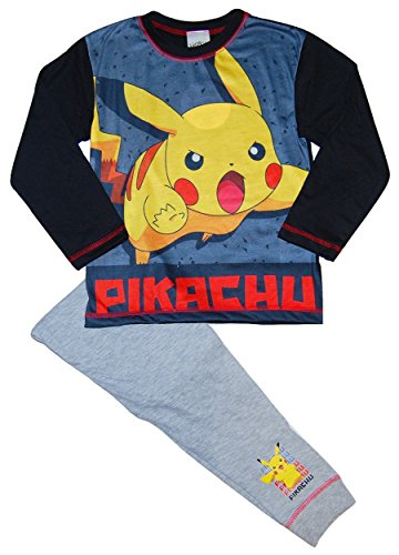 Pokemon-Pikachu-Pijama-dos-piezas-para-nio