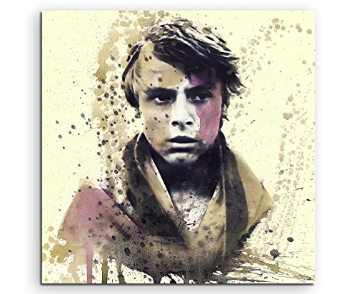Paul Sinus Art Star_Wars_Luke_Skywalker_60x60-SA Wandbild Leinwand, 90 x 50 x 3 cm, Mehrfarbig