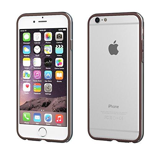 Apple iPhone 6S Plus / 6 Plus Hülle, EAZY CASE Bumper - Premium Handyhülle aus Silikon - Flexible Schutzhülle als Cover in Rosa Braun