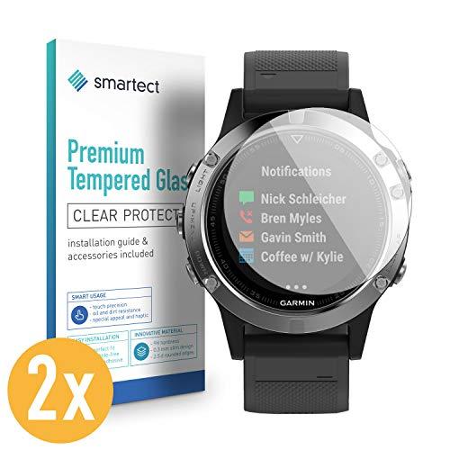 smartect Panzerglas für Garmin Fenix 5s [2 Stück] - Displayschutz mit 9H Härte - Blasenfreie Schutzfolie - Anti Fingerprint Panzerglasfolie