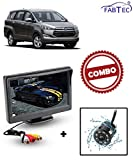 #4: Fabtec Waterproof Car Parking (IR) Camera & Dashboard Screen For Toyota Innova Crysta (Size 5