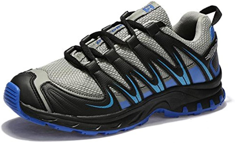 GESIMEI Wanderschuhe Trekking Outdoor Schuhe Herren Sportschuhe Atmungsaktive Slip on Sneakers