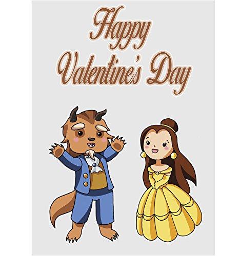 Valentines Karte-Cute Cartoon Paar Beauty und The Beast (Valentines König Karte)