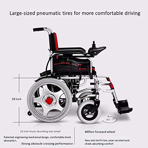 51dT5AeNWCL - WJUAN Silla De Ruedas Eléctrica Ancianos Discapacitados Scooter Inteligente Completamente Automático Ligero Plegable Vehículo Eléctrico De Cuatro Ruedas