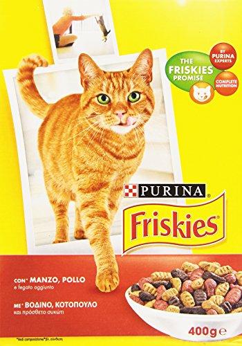 Friskies - alimento completo per gatti adulti, con manzo, pollo e fegato aggiunto - 400 g