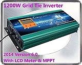 Almacén en Reino Unido A UE impositivo~sin! 1200 Watt diseño de rombos corbata 14 V-24 V Dc inversor de corriente de entrada/salida de corriente alterna 190 V-260 V carga para 12 V (18 V Vmp) Panel Solar del coche con pantalla de 8,89 cm LCD metro y función de MPPT