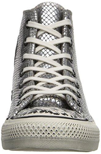 Converse All Star Hi Femme Baskets Mode Metallic Grau