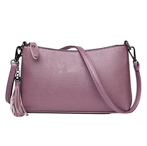 Business Retro Einfache Farbe Damen Schultertasche Messenger Tasche Freizeit Mode Wild Elegant Purple