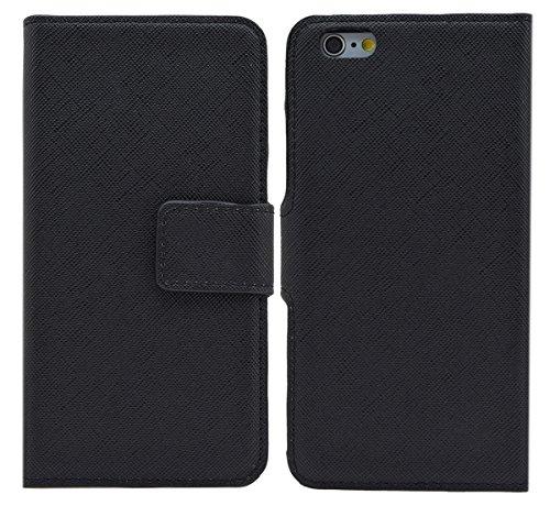 Premium Book-Style Tasche für iPhone 6 / 6s (4.7 Zoll) / Handytasche Etui Hülle Schutzhülle (Spezielle Anfertigung) in weiss Schwarz