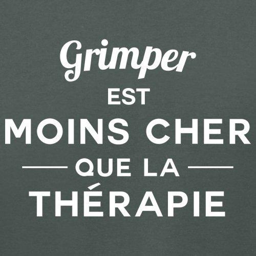Grimper est moins cher que la thérapie - Femme T-Shirt - 14 couleur Gris Foncé