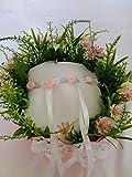 Anillos de boda almohada portador cesta rústica de la boda enteramente hecha a mano