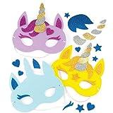 Baker Ross Kits de masques en mousse Licornes (lot de 4) - Loisirs créatifs pour...