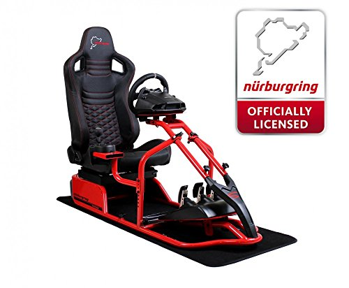 SPEEDMASTER ® Pro Rot - Carbonfaser Optik - Nürburgring Edition - Gaming Rennsitz - PS4 XBOX - Simracing