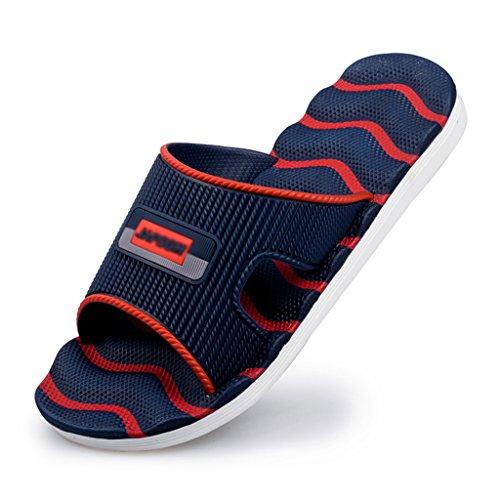 DWW-chaussons Pantoufles de mode intérieur maison été plage sandales anti-dérapantes D