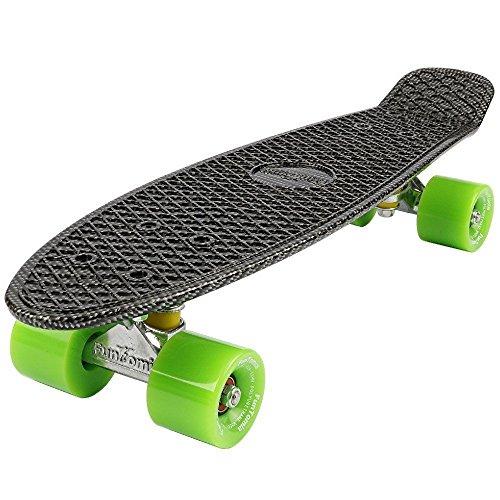 57cm Skateboard mit oder ohne LED Leuchtrollen inkl. Alu Truck und Mach1 Abec-11 Kugellager ()