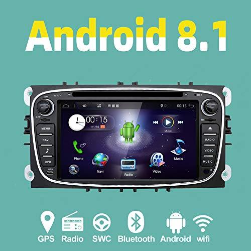 YUNTX Android 8.1 Autoradio para Ford Focus/Mondeo/S-MAX/Connect (2008-2011)   2 DIN  Cámara...