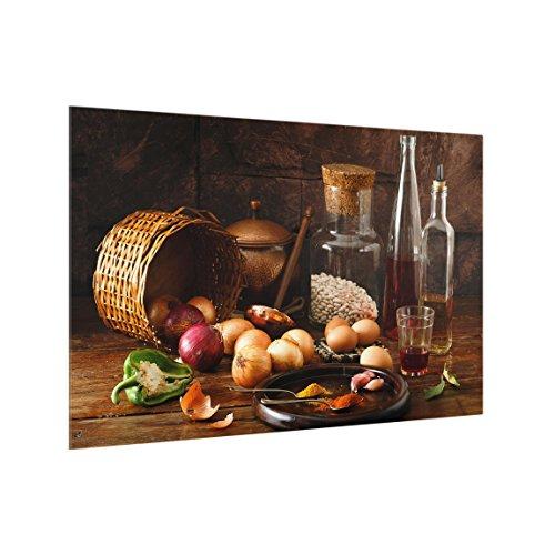 Bilderwelten Spritzschutz Glas - Düfte beim Kochen - Quer 2:3, HxB: 59cm x 90cm -