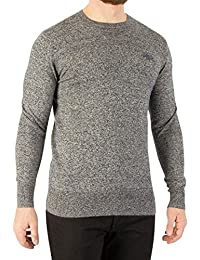 Superdry Men\u0027s Orange Label Crew Knit, Grey