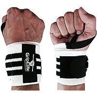 GripElite | Protège-Poignet Musculation de Haute-qualité | Bande Poignet | Évite Les blessures | Protection optimale Hommes et Femmes | Idéal Fitness, Crossfit, Gymnastique | Wrist Wrap Taille Unique
