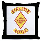 CafePress Red and gold support Mexican Throw Pillow - w/insert Multi-color