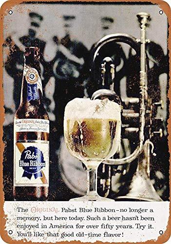 Pabst Blue Ribbon Blechschilder Aluminium Schilder Eisen Malerei Blech Plakat Warnung Plakette hängende Kunst Plakate Dekorative Cafe Bar