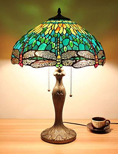 16 zoll Grüne Libelle Schmuck Pastoralen Minimalistischen Stil Tischlampe Nachttischlampe Schreibtischlampe Wohnzimmer Bar Lampe